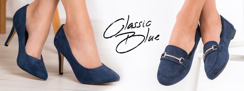 Модные осенние туфли, классические синие туфли на шпильке, т.е. PANTONE blue
