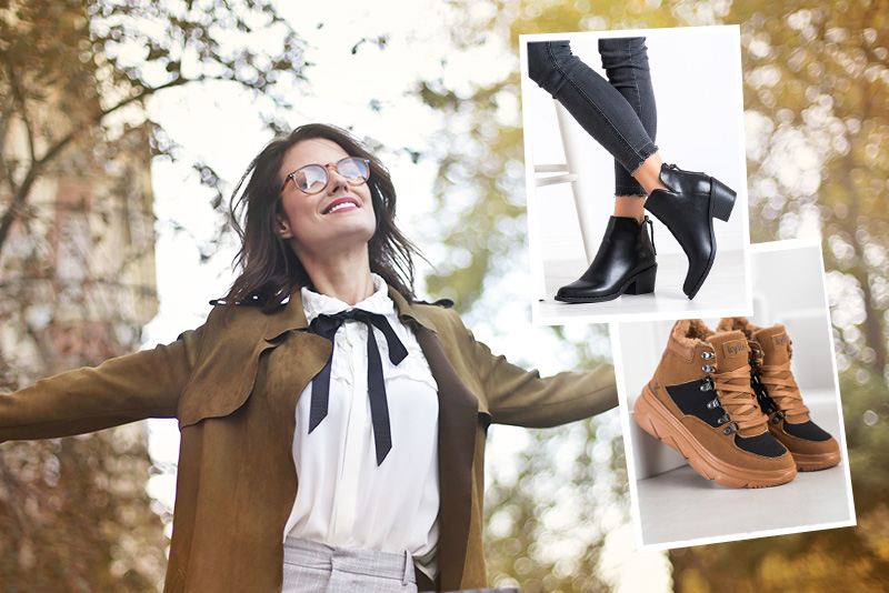 wiosenny płaszcz z botkami lub sneakersami