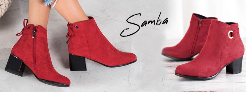 Модные осенние сапоги, сапоги самба, т.е. темно-красные