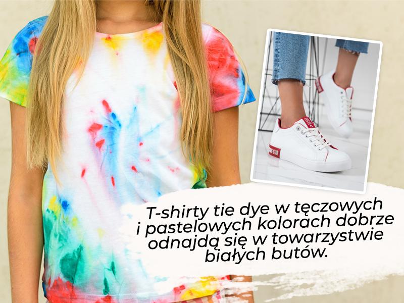 Stylizacje tie dye – jakie buty?