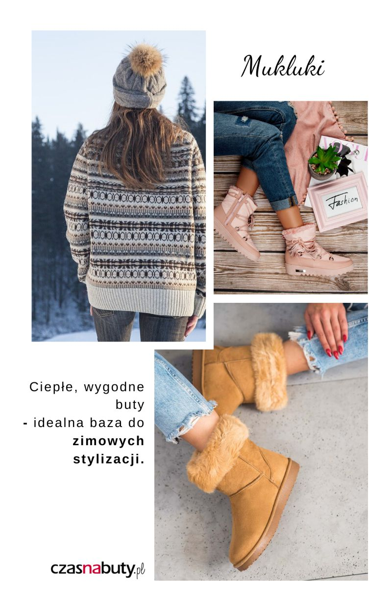 Jak nosić buty na zimę damskie, mukluki