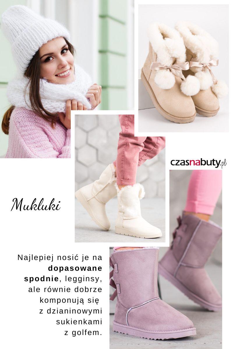 Buty na zimę damskie, mukluki inspirowane butami Eskimosów