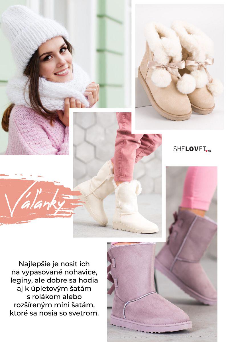 Dámske topánky na zimu, mukluky - váľanky inšpirované topánkami Eskimákov