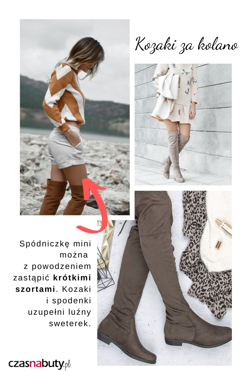 Kozaki za kolano kremowe i beżowe. Przykłady jak je nosić.