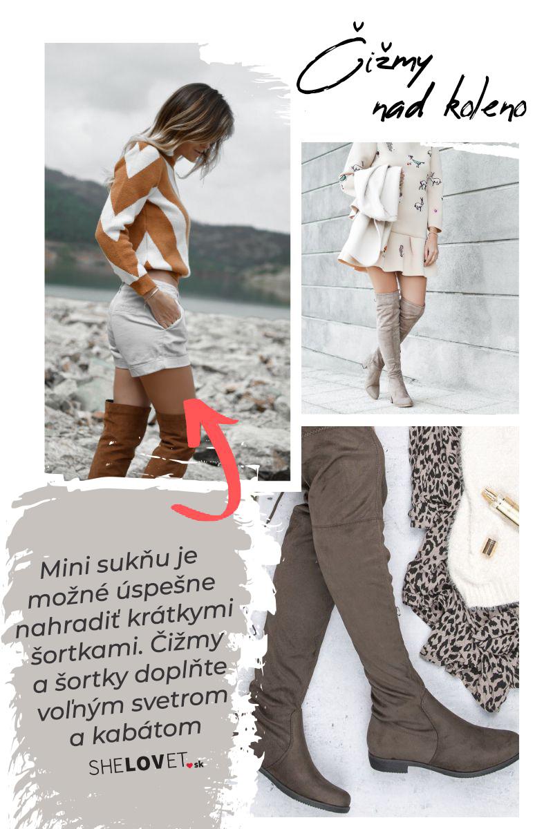 Čižmy nad koleno. Príklady ako ich nosiť.