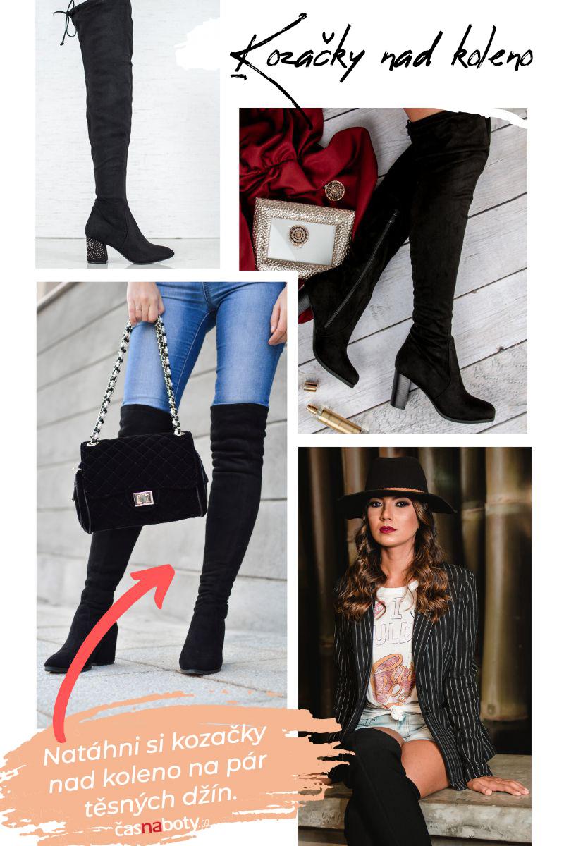 Boty nad koleno -jak je nosit